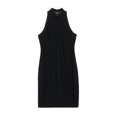 halter neck dress black